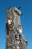 Children rock climbing Royalty Free Stock Image