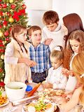 Children rolling dough in kitchen. Royalty Free Stock Photos
