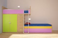 Children room royalty free illustration