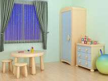 Children room. Interior of children room with colorful furniture Royalty Free Stock Image