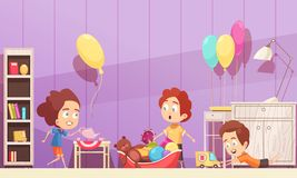 Children Room Cartoon Illustration Royalty Free Stock Images