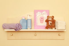 Children room. And child care on the wall royalty free stock images