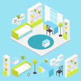 Children Room Composition In Isometric Stock Photo