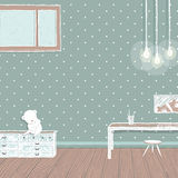 Children room dark with bulbs background design Stock Image