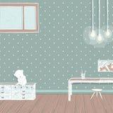 Children room dark with bulbs background design Stock Image