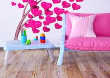 Children room interior 3d rendering stock photo