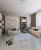 Children room interior design, 3D render. Modern interior design ideas. 3d visualization of  kids bedroom interior design Royalty Free Stock Image
