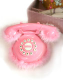 Children rosy telephone Royalty Free Stock Photography