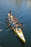 Children rowing in Salthouse Dock. Royalty Free Stock Photo
