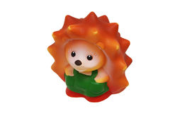 Children rubber toy hedgehog. Close-up Royalty Free Stock Photos