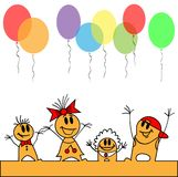 Children run the balloons Royalty Free Stock Photos