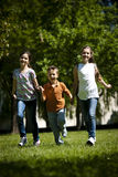 Children running. In the park Stock Photography