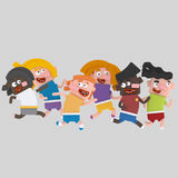 Children running  3D Royalty Free Stock Images