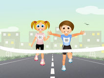 Children running Royalty Free Stock Photos