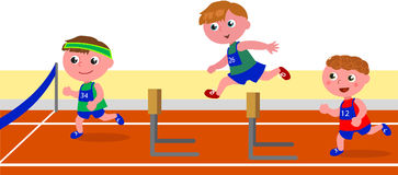 Children running obstacle race Royalty Free Stock Photography