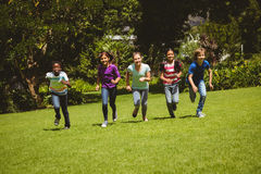 Children running at park Royalty Free Stock Photo