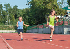 Children running Royalty Free Stock Photo
