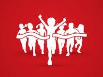 Children running vector illustration