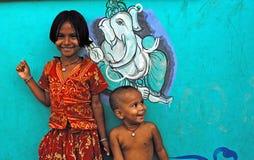 Children in rural India Stock Photos