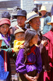 Children in rural village life in Tibet Royalty Free Stock Photos