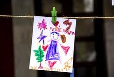 Children rysunek 2 Zdjęcia Stock