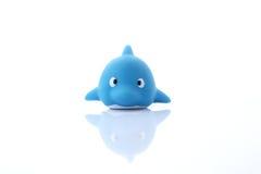 Children& x27; s橡胶玩具海豚 库存图片