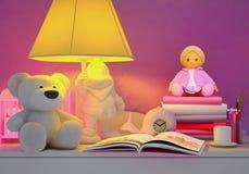 Children& x27; s童话为夜 库存图片