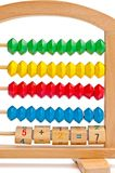 Children's abacus with color and digital elements Royalty Free Stock Photo