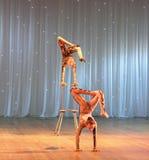 Children's acrobatic duo Royalty Free Stock Photos