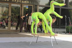 Children's acrobatic duo Stock Photography
