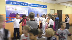 Children's actions in an elementary school, September 18, 2015, Health Day, Russia stock video footage