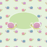 Children's album. Title of children's album with cheerful snail vector illustration