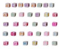 Children's alphabet blocks Stock Image