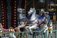 Children's amusement park carousel horse Royalty Free Stock Image