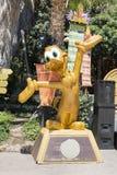 Children's amusement park -wooden duck Stock Photo