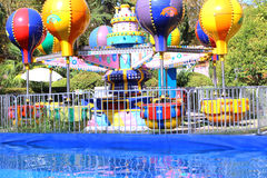 Children's amusement and pool water reflection Royalty Free Stock Image