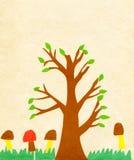 Children's application paint tree Stock Photo