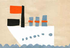 Children's application sea ship Stock Photography