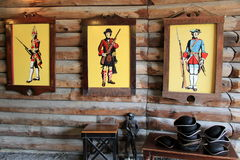 Children's area, where they can become part of the King's army,Fort William Henry,Lake George,New York,2015 Royalty Free Stock Photo