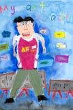 Children's Art - Art Teacher Stock Images