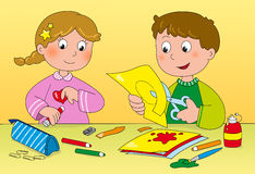 Children's art and creativity Royalty Free Stock Photography