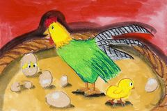 Children's Art - Farm Animals Royalty Free Stock Photography