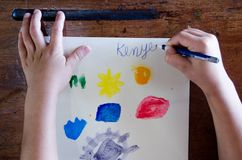 Children`s art workshop royalty free stock photography