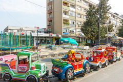 Children's attraction in the city of Leskovac in Serbia stock photos