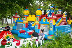 Children's attraction in the seaside park of Burgas in Bulgaria Royalty Free Stock Photo