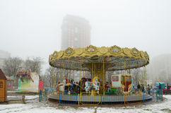 Children`s attractions in the city. Stock Photo