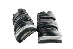 Children`s autumn shoes Stock Photo