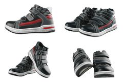 Children`s autumn shoes Stock Images