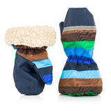 Children's autumn-winter mittens Royalty Free Stock Photography