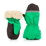 Children's autumn-winter mittens Royalty Free Stock Image